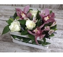 """Ящик с цветами """"Укрощенная орхидея"""""""