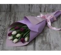 9 тюльпанов нежный микс