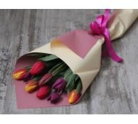 9 тюльпанов яркий микс